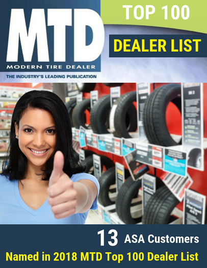 13 ASA Customers Named in 2018 MTD Top 100 Dealer List