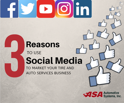 3 Reasons to Use Social Media to Market your Tire and Auto Repair Shop